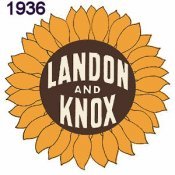 1936 Landon Knox Presidential Sticker