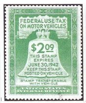 1942 US Federal Gas Ration Stamp