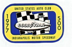 1977 Indianapolis 500 sticker