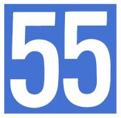 1956 Massachusetts 55 MPH Speed Limit sticker