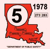 1978 Louisiana inspection sticker