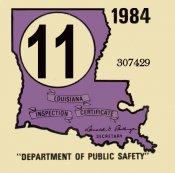 1984 Louisiana inspection
