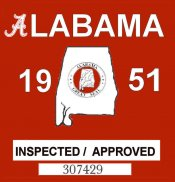 1951 Alabama Safety Checked
