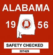 1956 Alabama Safety Checked