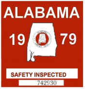 1979 Alabama Safety Check inspection Sticker