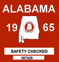 1965 Alabama Safety Checked