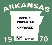 1970 Arkansas safety Inspection