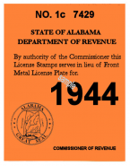 1944 Arizona inspection/Registration sticker