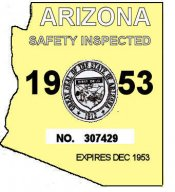 1953 Arizona Inspection