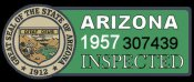 1957 Arizona Inspection Sticker