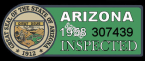 1958 Arizona Inspection Sticker