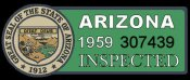 1959 Arizona Inspection Sticker