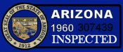 1960 Arizona Inspection Sticker