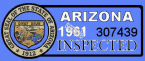 1961 Arizona Inspection Sticker