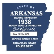 1938-39 Arkansas Inspection Sticker
