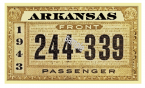 1943 Arkansas Registration sticker