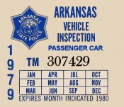 1979 Arkansas Inspection Sticker