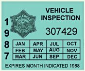 1987 Arkansas Inspection Sticker