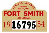 1954 Arkansas Registration Sticker