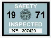 1971 Arizona Inspection Sticker