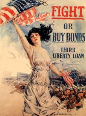 "War Bond Sticker Liberty ""Fight or Buy Bonds"""