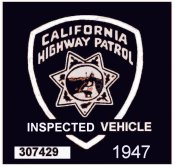 1947 California Safety Inspection sticker