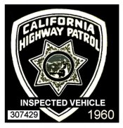 1960 California Inspection Sticker