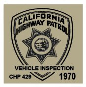 1970 California Inspection Sticker
