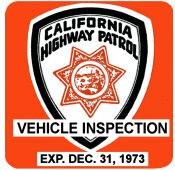 1973-12 California Inspection Sticker