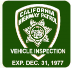 1977 California Inspection sticker