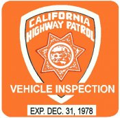 1978 California inspection sticker