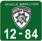 1984 California Safety Check inspection sticker