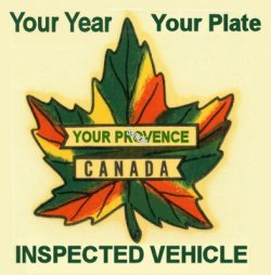 1929-1987 Canada inspection sticker