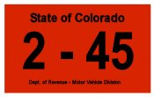 1945 Colorado INSPECTION Sticker