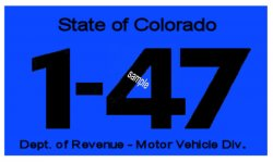 1947 Colorado INSPECTION Sticker