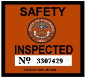 1966 Colorado Inspection Sticker