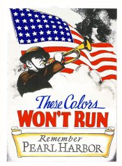 1941 WW2 These Colors won't run windshield Sticker