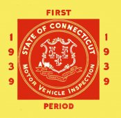 1939 Connecticut Inspection sticker