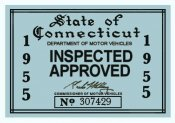 1955 Connecticut Inspection Sticker