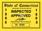 1965 Connecticut Inspection sticker