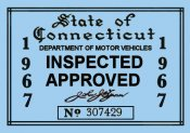 1967 Connecticut inspection sticker