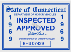 1969 Connecticut inspection sticker