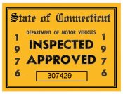 1976 Connecticut Inspection sticker