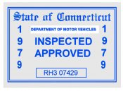 1979 Connecticut Inspection sticker
