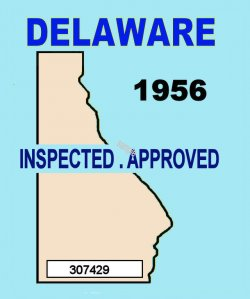 1956 Delaware inspection sticker (Estimate)
