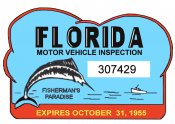 1955 Florida Inspection sticker