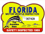 1959 Florida Safety Check inspection sticker