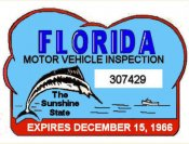 1966 Florida Safety Check inspection sticker