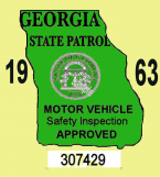 1963 Georgia inspection sticker