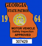 1964 Georgia Inspection Sticker